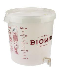 Pojemnik fermentacyjny 30 L z kranem nadruk